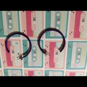 *5/$15* purple hoop earrings